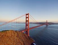 Golden gate bridge som sett från Marin Headlands Fotografering för Bildbyråer