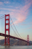Golden gate bridge-Sonnenuntergang-Bild Stockfotos