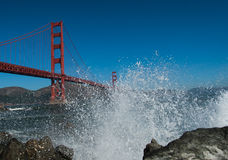 Golden Gate Bridge splash Royalty Free Stock Photo