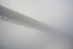 Golden Gate bridge in strong haze Stock Photos