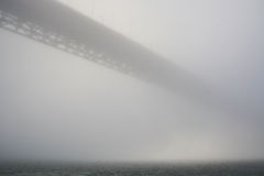 Golden Gate bridge in strong haze Royalty Free Stock Photo