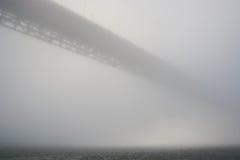 Golden Gate bridge in strong haze. San Francisco Royalty Free Stock Photo