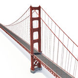 Golden gate bridge su bianco illustrazione 3D Fotografie Stock