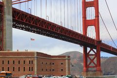 Golden Gate Bridge on a summer day Royalty Free Stock Photos