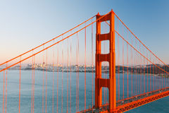 Golden Gate Bridge and Sun Francisco Stock Photos