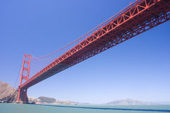 Golden Gate Bridge on a sunny day Stock Photography
