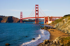 Golden Gate Bridge on a sunny day Royalty Free Stock Photos