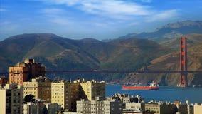 Golden Gate Bridge on sunny day stock footage