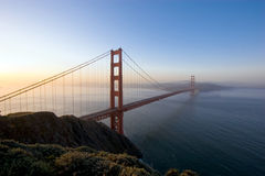 Golden Gate Bridge at Sunrise Stock Images