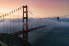 Golden Gate Bridge Sunrise Royalty Free Stock Image