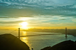 Golden Gate Bridge during sunrise Royalty Free Stock Image