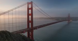 Golden Gate Bridge Sunrise stock video
