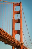 Golden Gate Bridge at sunrise from Fort Point, San Francisco royalty free stock photo