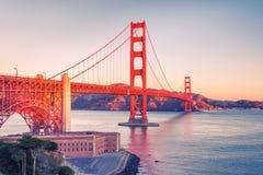 Golden Gate Bridge. At sunrise, San Francisco Stock Photos