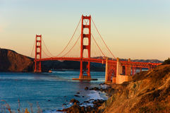 Golden Gate Bridge at sunset Stock Photography