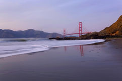 Golden Gate Bridge at Sunset Royalty Free Stock Photography