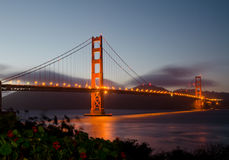 Golden Gate Bridge during sunset Royalty Free Stock Images