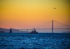 Golden Gate Bridge sunset Stock Photo