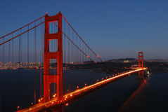 Golden Gate Bridge at Sunset. THis was taken on a very clear San Francisco evening Royalty Free Stock Photo