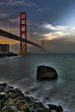 Golden Gate Bridge sunset Stock Photo