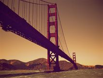 Golden Gate bridge at sunset Royalty Free Stock Image
