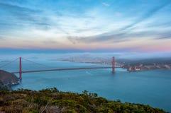 Golden Gate Bridge at sunset background, San Francisco, California, USA Royalty Free Stock Photography