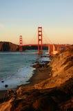 Golden Gate Bridge at sunset Stock Photos