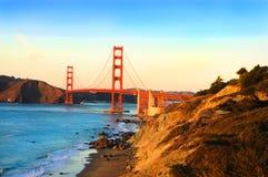 Golden Gate Bridge at sunset Royalty Free Stock Images