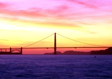 Golden Gate bridge at sunset, San Francisco. Stock Photo