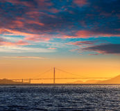 Golden Gate bridge sunset in San Francisco California Royalty Free Stock Photos