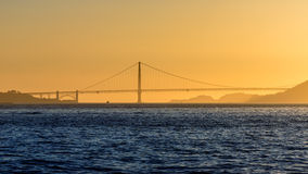 Golden Gate bridge sunset in San Francisco California Stock Image