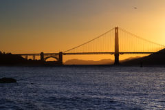 Golden Gate Bridge sunset San Francisco Royalty Free Stock Images