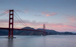 Golden-Gate Bridge at Sunset, San Francisco, California Stock Images