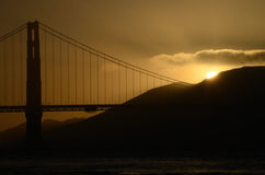 Golden Gate Bridge Sunset Royalty Free Stock Images