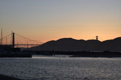 Golden Gate Bridge Sunset. Sunset view Golden Gate Bridge Royalty Free Stock Images