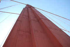 Golden Gate Bridge Support. An interesting look at one of the support posts for the Golden Gate Bridge in San Francisco Stock Photo