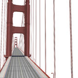 Golden gate bridge sur le blanc illustration 3D Images libres de droits