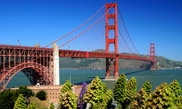 Golden Gate Bridge. The Golden Gate Bridge is a suspension bridge spanning the Golden Gate, the opening of the San Francisco Bay into the Pacific Ocean. As part royalty free stock photography