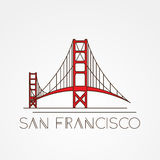 Golden Gate bridge - The symbol of US, San Francisco royalty free illustration