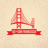 Golden Gate bridge - The symbol of US, Sun Francisco. Stock Photos
