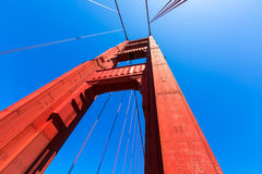 Golden Gate Bridge szczegóły w San Fransisco Kalifornia obrazy stock