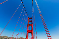 Golden Gate Bridge szczegóły w San Fransisco Kalifornia fotografia stock