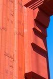 Golden Gate Bridge szczegóły w San Fransisco Kalifornia Zdjęcie Royalty Free