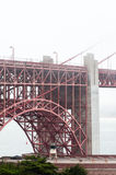 Golden Gate Bridge szczegóły w San Fransisco usa Obraz Royalty Free