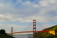 Golden Gate Bridge taken from Marin County, California. Golden Gate Bridge in early moring from Marin County end Stock Photos