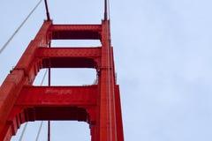 Golden gate bridge-Torennadruk royalty-vrije stock afbeelding