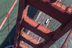 Golden gate Bridge Tower Aerial View Stock Images