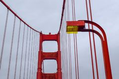 Golden Gate Bridge Tower Focus stock photography