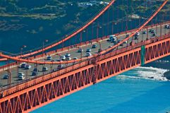 Golden Gate Bridge traffic. San Francisco royalty free stock images
