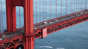 Golden Gate Bridge traffic movie stock footage